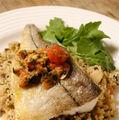 File de peşte cu cartofi şi rozmarin la cuptor