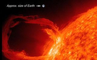 Un nor de radiaţii solare loveşte azi Terra - VIDEO