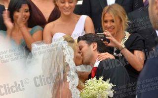 Delia și Răzvan, primul sărut după nuntă