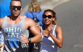Mel B aleargă cu antrenorul personal