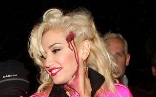 """Gwen Stefani, cu """"sânge"""" pe față"""