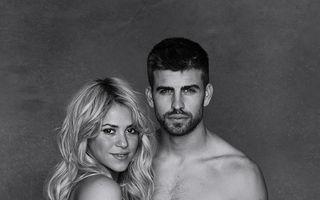 Shakira a pozat doar în sutien și fustă