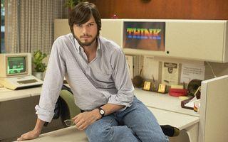 "Ashton Kutcher, ""fratele geamăn"" al lui Steve Jobs"
