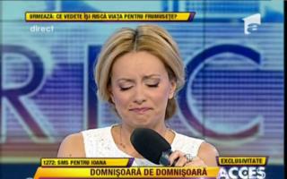 Simona Gherghe a plâns în direct