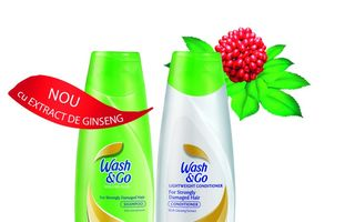Noul Wash&Go cu extract de ginseng