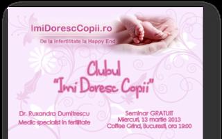 """Intâlnire a Clubului """"Îmi Doresc Copii"""" pentru cuplurile cu probleme de infertilitate"""