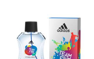 Adidas prezinta noul parfum barbatesc Team Five in editie limitata
