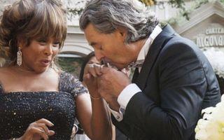 Tina Turner, nuntă în rochie neagră la 73 de ani!