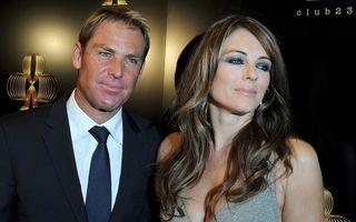 Liz Hurley şi Shane Warne au rupt iar logodna