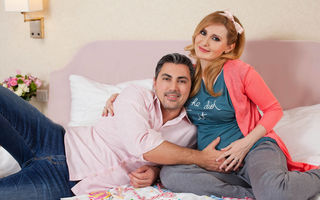 Alina Sorescu, ședință foto în luna a noua de sarcină