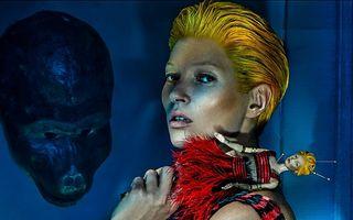 Kate Moss, noua imagine a campaniei Alexander McQueen