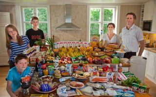 Ce mănâncă şi cât cheltuie familiile din lume într-o săptămână
