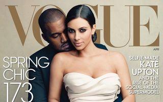 Vogue, criticată pentru coperta cu Kim Kardashian şi Kanye West