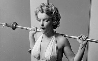 Diva anilor '50, în imagini rare: Marilyn Monroe trăgea de fiare ca să fie în formă