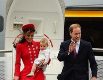 Bebelușul regal, la prima vizită oficială