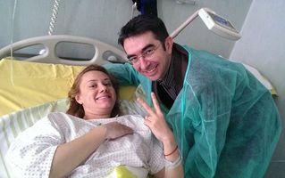 """""""Bebeluşa"""" Oana a născut un băiețel: Prima imagine cu micuțul ei"""