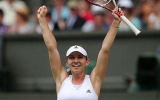 Simona Halep s-a calificat în semifinale la Wimbledon