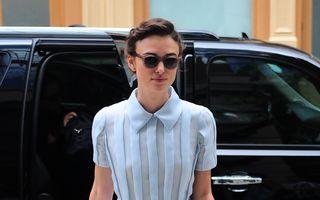 Modă: 10 vedete sexy în rochii retro. Keira Knightley, o apariţie elegantă