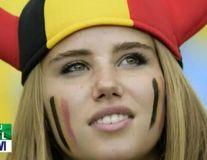 Suporteră a Belgiei aflată în tribune la Cupa Mondială, aleasă de L'Oreal pentru promovare - FOTO, VIDEO