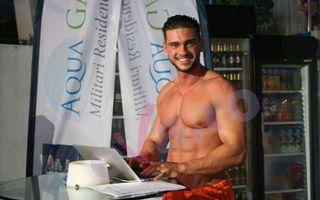FOTO. Dorian Popa se pregăteşte pentru emisiunea de la Kanal D la bustul gol