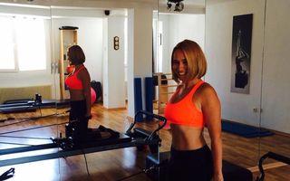 FOTO: Andreea Esca face Pilates cu zâmbetul pe buze