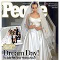 Primele imagini cu rochia de mireasă a Angelinei Jolie