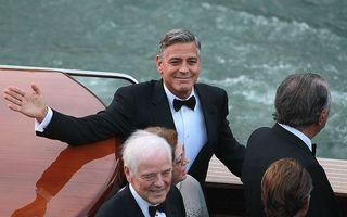 George Clooney s-a căsătorit la Veneţia cu avocata Amal Alamuddin