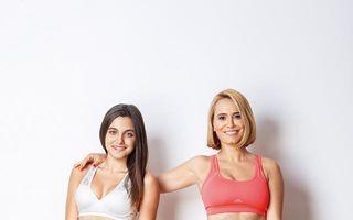 FOTO: Esca și fiica ei, abdomen perfect în ținută sport