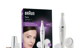 Scapă de imperfecţiunile tenului şi oferă-i strălucire fără cusur cu noul noul Braun Face!