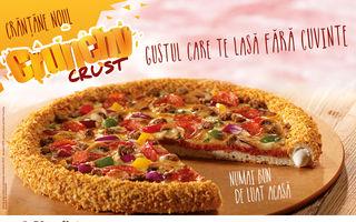 Crunchy Crust, un nou blat inovator la Pizza Hut și Pizza Hut Delivery