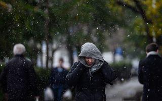 Cod galben de ploi și ninsori în aproape toată ţara