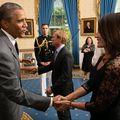 Nadia Comăneci s-a întâlnit cu Barack Obama la Casa Albă
