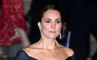 Kate Middleton, o gravidă elegantă: Apariție strălucitoare într-o rochie de gală