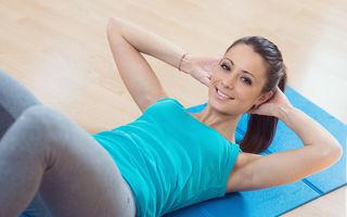 6 exerciţii ca să ai abdomenul tonifiat până la Crăciun
