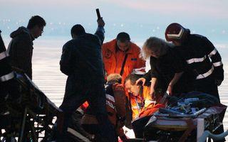Un elicopter SMURD cu patru persoane la bord s-a prăbuşit în Lacul Siutghiol