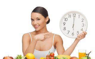 Dietă: Cele mai bune ore la care să mănânci ca să slăbeşti