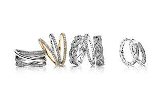 Stil strălucitor cu inelele suprapuse de la PANDORA