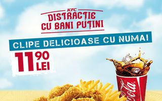 KFC te invită la distracție cu bani puțini, la început de an