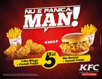 Nu e panică, man! La KFC ai super-oferte la 5 lei și un concurs cu premii #pebune
