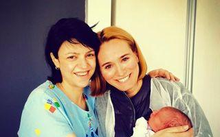 Raluca Arvat, prima poză cu bebeluşul