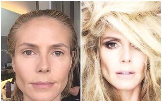 Transformare incredibilă: Cum arată Heidi Klum înainte şi după machiaj