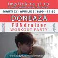 Dana Săvuică sprijină copiii bolnavi de cancer prin intermediul proiectului  FUNdraising Workout Party