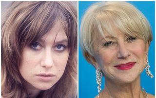 Arta de a îmbătrâni frumos: Helen Mirren, de la adolescenţă la 69 de ani, fără machiaj