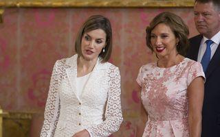 FOTO: Carmen Iohannis, încântătoare la întâlnirea cu Regina Letizia a Spaniei