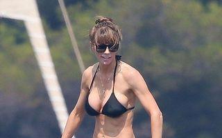 Perfectă ca o sculptură: Nevasta lui Stallone arată senzaţional la 46 de ani