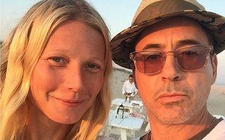 Gwyneth Paltrow, din nou fără machiaj: Selfie pe plajă cu Robert Downey Jr