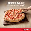 Special 5, cinci rețete de pizza la un preț irezistibil, la Pizza Hut Delivery
