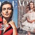 Fotomodelul Andreea Diaconu, pe coperțile Vogue Olanda şi Spania