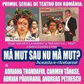 """Primul serial de teatru din Romania continua cu premiera """"Ma mut sau nu ma mut? Aceasta e-ntrebarea!"""""""