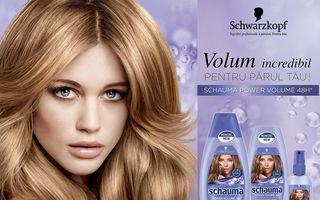 Volum incredibil al părului de la rădăcini și până la vârfuri cu noua gamă Schauma Power Volume: 48 de ore de volum pentru părul subţire